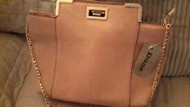Tan coloured Dune handbag real leather.