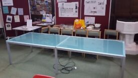 3 Meter Glass Conference Table