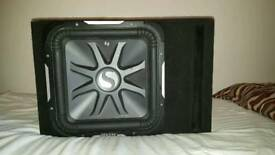 Kicker solo baric L7 15inch subwoofer and amp QUICK SALE!!!!