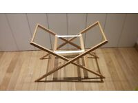 Moses basket stand - solid beech wood