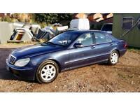 Mercedes S430 Petrol 2000 X Reg, 4 Door Saloon, S/History, Only 123,000 Miles, Mot 22/08/19 Bargain
