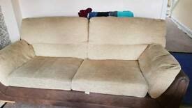3 seater sofa & 2 seater sofa bed with foot stool