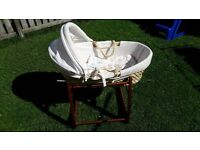Babies R Us Cradle + Moses Basket