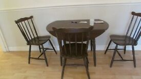 Dark wood Brown Dining Table & Chairs