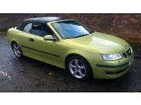 saab 9-3 vector convertible turbo diesel 2007 07 plate