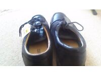 Men's brand new leather comfy black shoes 10