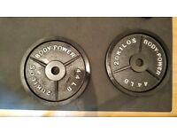 2 X 20kg Pody Power Olympic Weight Plates