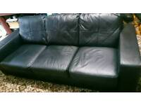 Real leather sofa, settee
