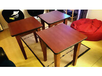 2 or 3 Sturdy Solid Wood Tables With A Quality Laminated Finish