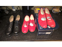 red size 6 tap shoes roch vally