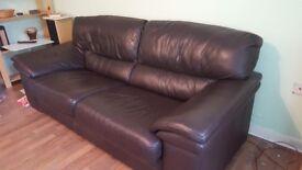 3 seàter leather sofa