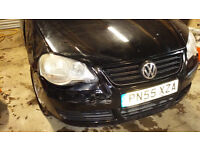 V W POLO 1.2 lignt front damage, drives fine, has MOT, was unrecorded