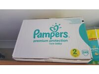 Brand New unopened box of 240 Pampers size 2 nappies