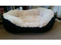 Never used medium fleece pet bed