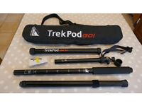 TREKPOD GO TRIPOD/MONOPOD/WALKING STICK FOR CAMERA/BINOCULAR