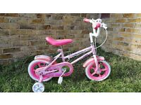"Girls First Bike - 12"" wheel bike with Stableisers"