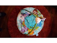 Baby colourful play mat. Washable, with musical teddy.
