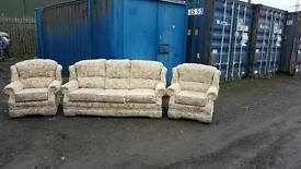 3 seats sofa and 2 x1 seats