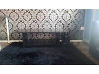 Black wooden strong tea/coffee table.