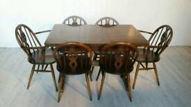 Pending Collection Ercol Dining Table and 6 Chairs