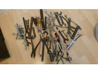 tools, spanners and cables