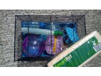 Hamster Cage in very good condition with starter kit. £15