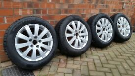 VW PASSAT B6 2005-11 ALLOY WHEELS AND HANKOOK WINTER TYRES 215/55 R16