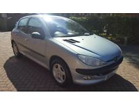 VERY CLEAN PEUGEOT 206, WITH LONG MOT + SERVICE HISTORY