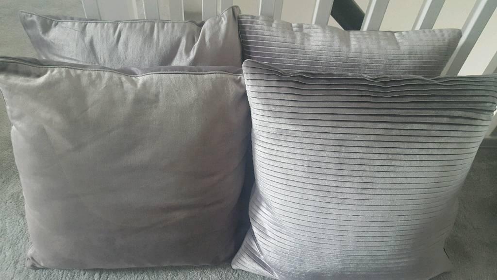 4 silver Next cushions