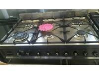 Smeg 90cm dual fuel hardly used !!! Range cooker very cheap.