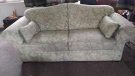2 x three seater sofas