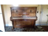 Antique piano Franz Seiler with sconces