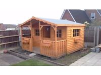 Garden shed , Workshop, Man Cave. Play house, summer house, Log store etc. Build your own. Any size.