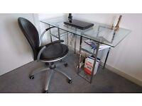 NEXT Glass Top Office Desk