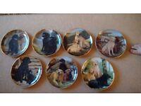 Set of 7 NigelHemming Franklin Mint Decorative Labrador plates will sell separately unused