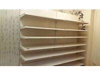 Used Shop Walled Shelving Unit - £150