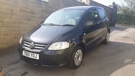 2010 / 10 Plate Volkswagen Urban FOX 1.2 6V 3d 54 BHP GROUP 1 insurance 50K MILES FROM NEW