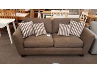Ashley Manor Alexis Brown 3 Seater Fabric Sofa Can Deliver
