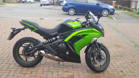 Kawasaki ER-6F 6141 Miles, added extras and service history.