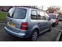 2006 vw touran 7 seats 1.6 petrol new 12 month mot