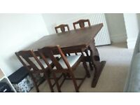 Antique Dining Table & 4 Chairs - Must go this weekend !