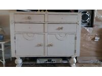 antique oak sideboard open to others