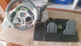 Xbox 360 wheel and petal £30come with original box