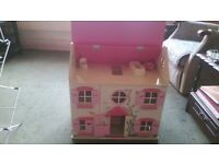 mint con wooden dolls house