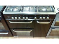 KENWOOD CK503 Dual Fuel Range Cooker - Black ex display