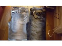 2 pairs of womens next jeans and a pair of bench jeans all excellent condition