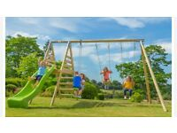Double swing and slide set