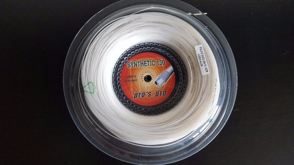 Pro's Pro Synthetic 130 1.30mm 200M Reel Tennis String