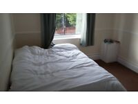 Double room in three bedroomed flat - available now
