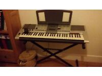 Yamaha PSR E403 Keyboard with stand, power cable, manual instructions - excellent condition